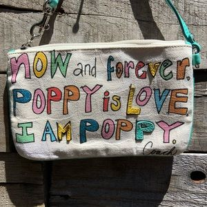 """🌻Coach Colorful """"Poppy is Love"""" Glam Wristlet"""